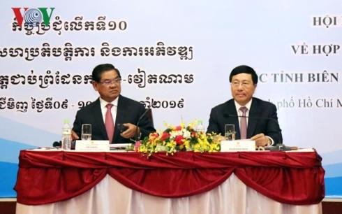 Vietnam y Camboya continúan cooperando para el desarrollo de las provincias en la frontera común - ảnh 1