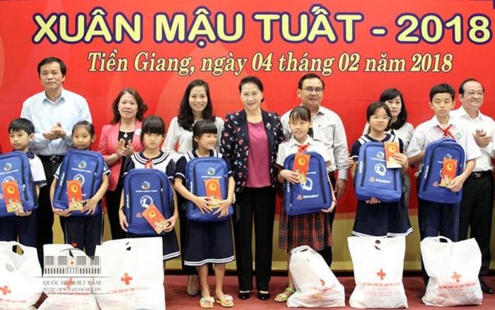 Líder parlamentaria vietnamita en provincia meridional de Tien Giang - ảnh 1