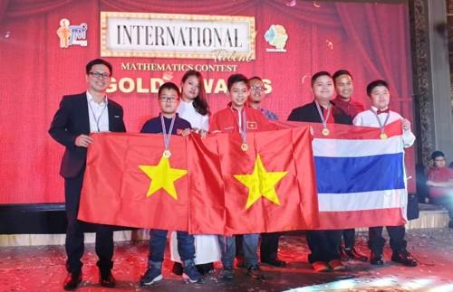 Estudiantes vietnamitas consiguen altos resultados en concurso internacional de Talento Matemático - ảnh 1