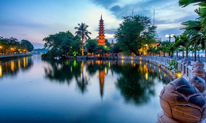 Pagoda de Tran Quoc es apreciada por una revista británica  - ảnh 1