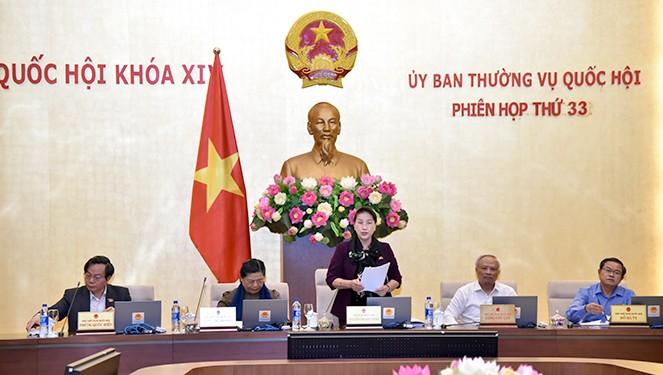 Clausuran la 33 reunión del Comité Permanente del Parlamento vietnamita - ảnh 1