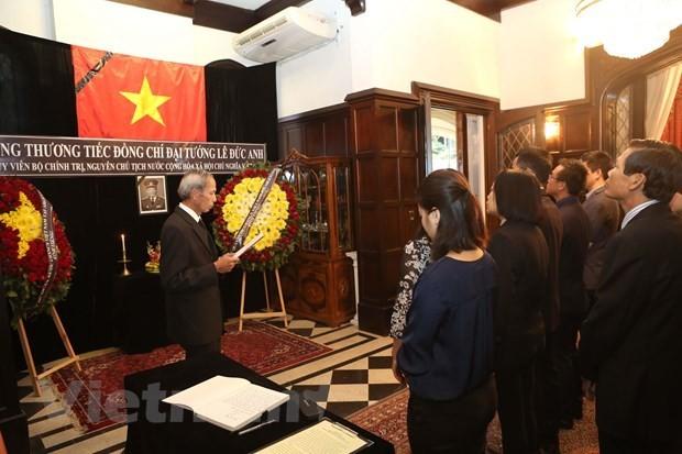 Rinden homenaje póstumo al expresidente Le Duc Anh en Argentina y México - ảnh 1