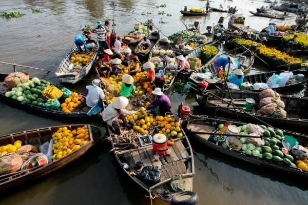 Celebrarán en unos días en Can Tho Festival del Mercado Flotante de Cai Rang - ảnh 1