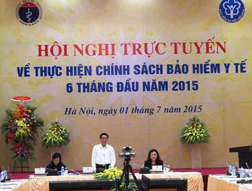 รองนายกรัฐมนตรีหวูดึ๊กดามเข้าร่วมการประชุมเกี่ยวกับการประกันสุขภาพ - ảnh 1