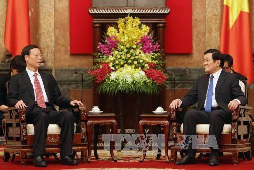 ท่านเจืองเติ๊นซางให้การต้อนรับรองนายกรัฐมตรีจีน - ảnh 1