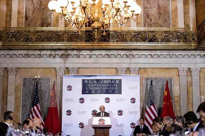 การสนทนาเศรษฐกิจอย่างรอบด้านระหว่างสหรัฐและจีน - ảnh 1