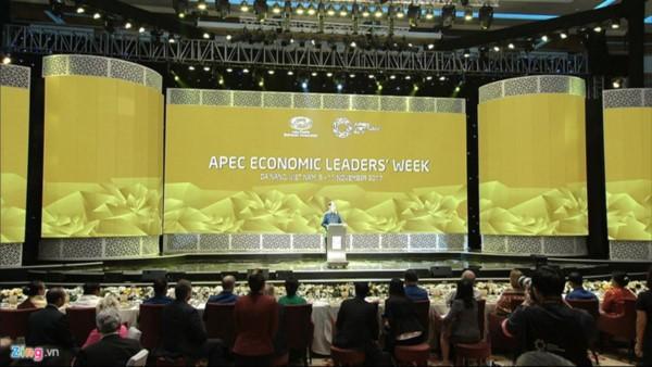 ประธานประเทศเจิ่นด่ายกวางจัดงานเลี้ยงแด่คณะผู้แทนที่เข้าร่วมการประชุมผู้นำเอเปกครั้งที่ 25 - ảnh 1