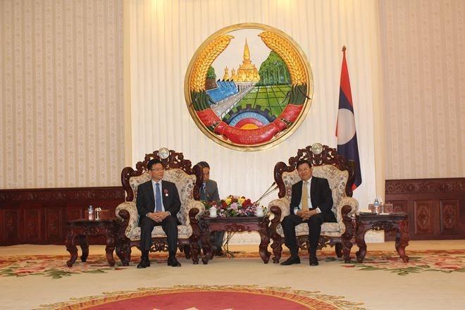 นายกรัฐมนตรีลาวชื่นชมความร่วมมือที่มีประสิทธิภาพระหว่างกระทรวงยุติธรรมเวียดนาม – ลาว - ảnh 1