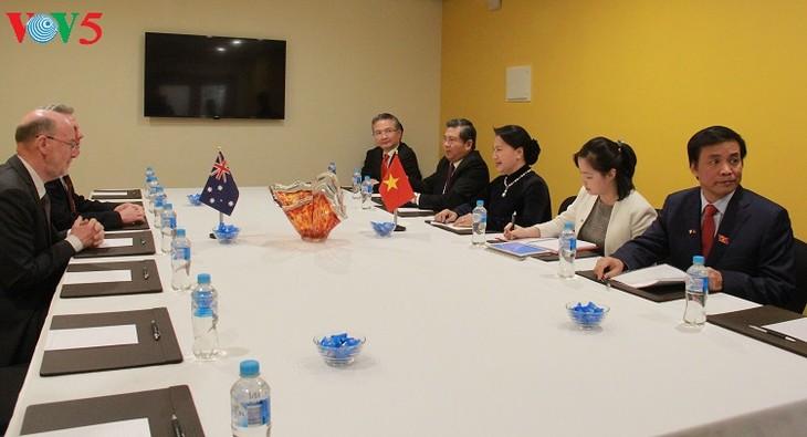 ประธานสภาแห่งชาติเวียดนามพบปะกับนายกสมาคมมิตรภาพออสเตรเลีย – เวียดนาม - ảnh 1