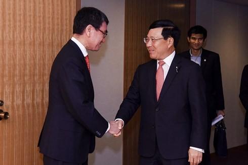 รองนายกรัฐมนตรีฝามบิ่งมิงห์ชื่นชมความช่วยเหลือของญี่ปุ่นต่อเวียดนามในกระบวนการพัฒนาเศรษฐกิจ - สังคม - ảnh 1