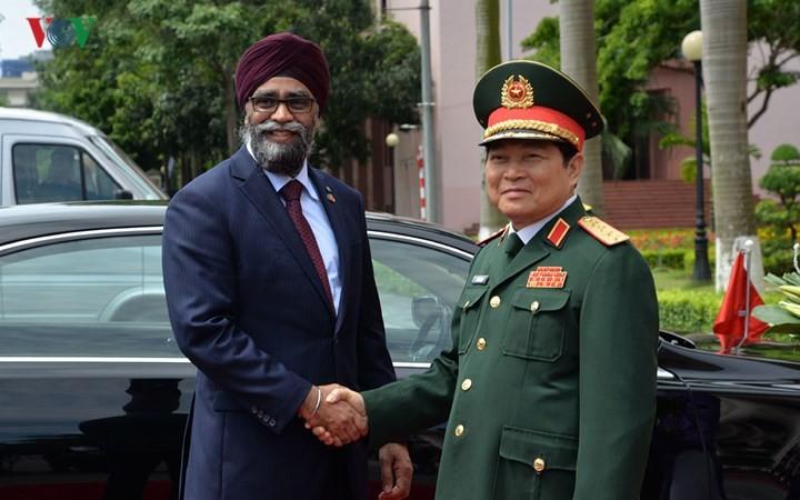 รัฐมนตรีกลาโหมแคนาดาเยือนเวียดนามอย่างเป็นทางการ - ảnh 1