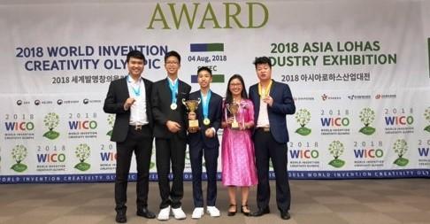คณะนักเรียนเวียดนามคว้ารางวัลในการแข่งขันโอลิมปิกส์สิ่งประดิษฐ์หรือ WICO - ảnh 1