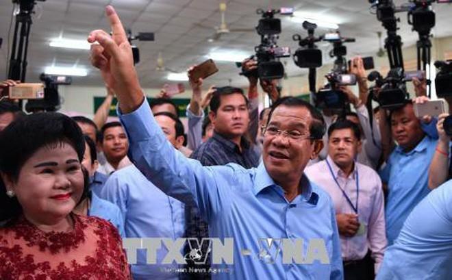 พรรคประชาชนกัมพูชารับชัยชนะอย่างท่วมท้นในการเลือกตั้งรัฐสภา - ảnh 1