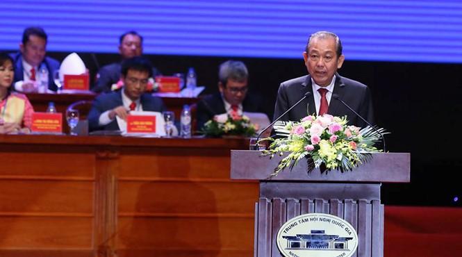 รองนายกรัฐมนตรีเจืองหว่าบิ่งห์เข้าร่วมการประชุมใหญ่ผู้แทนสถานประกอบการรุ่นใหม่เวียดนามครั้งที่ 6 - ảnh 1