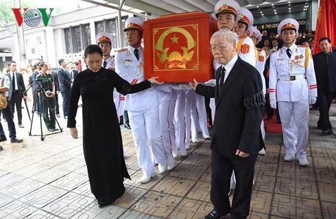 รัฐพิธีศพประธานประเทศเจิ่นด่ายกวาง - ảnh 9
