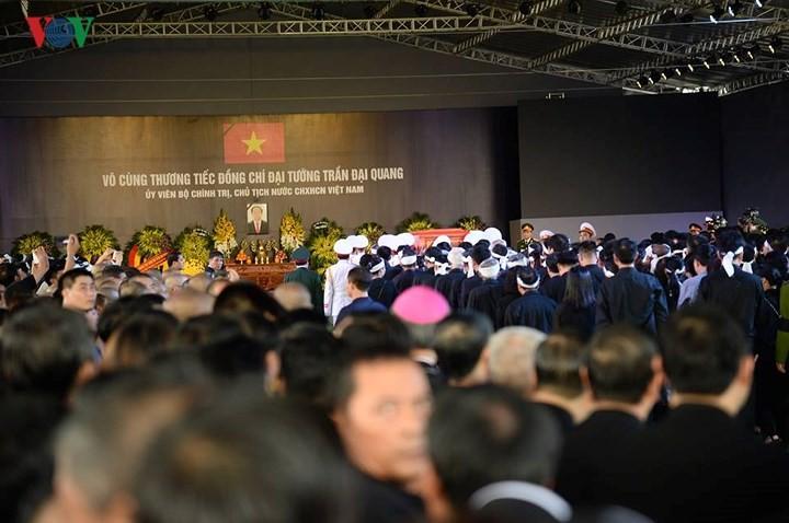 รัฐพิธีศพประธานประเทศเจิ่นด่ายกวาง - ảnh 19