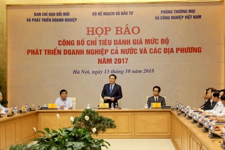 越南政府公布企业发展水平评估标准 - ảnh 1