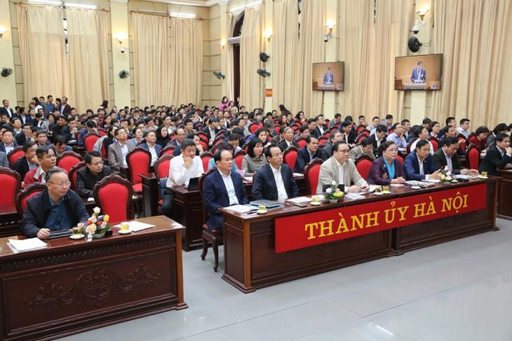เปิดการประชุมเจ้าหน้าที่ข้าราชการทั่วประเทศศึกษาและปฏิบัติตามมติของคณะกรรมการกลางพรรคครั้งที่ 8 สมัยที่ 12 - ảnh 1