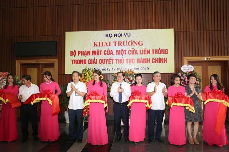 กระทรวงกิจการภายในเวียดนามเปิดให้บริการ One stop service - ảnh 1