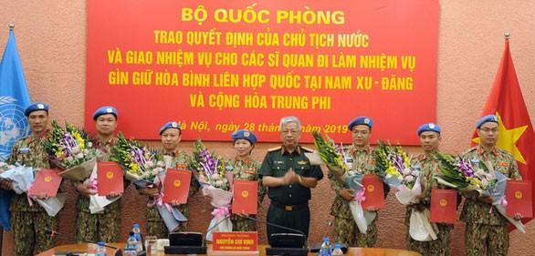 เวียดนามส่งทหารอีก 7 นายไปเข้าร่วมกิจกรรมการรักษาสันติภาพของสหประชาชาติ - ảnh 1