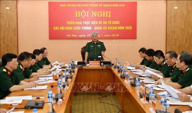 การประชุมเพื่อเตรียมจัดการประชุมกลาโหม - การทหารอาเซียนปี 2020 - ảnh 1