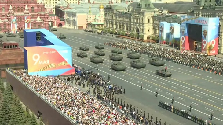 Rehearsal for Victory Day parade held in Moscow  - ảnh 1