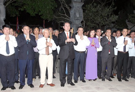 Chủ tịch nước dự Khai mạc lễ hội truyền thống Trường Yên năm 2016 - ảnh 1