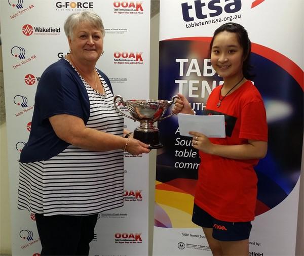 Thái Trịnh Hà My giành Giải Nhất bóng bàn tài năng trẻ vùng South Australia - ảnh 1