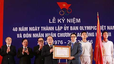 Ủy ban Olympic Việt Nam đón nhận Huân chương lao động hạng Ba nhân dịp kỷ niệm 40 năm ngày thành lập - ảnh 1