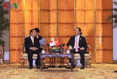 Chủ tịch nước Trần Đại Quang tiếp xúc song phương với lãnh đạo các nước - ảnh 2