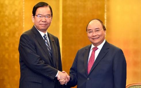 Thủ tướng Nguyễn Xuân Phúc tiếp lãnh đạo một số Đảng của Nhật Bản và tiếp một số doanh nghiệp  - ảnh 1