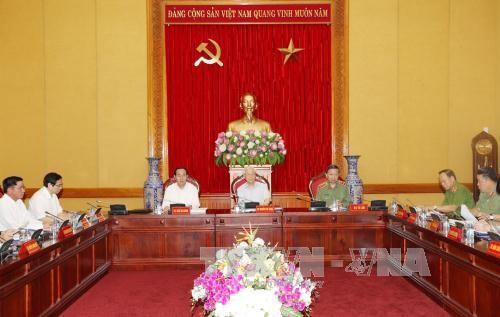 Đảng ủy Công an Trung ương thống nhất các nội dung công tác trọng tâm - ảnh 1