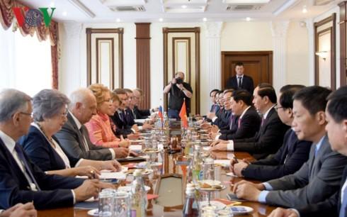 Chủ tịch nước Trần Đại Quang hội kiến Chủ tịch Hội đồng Liên bang Nga  - ảnh 1