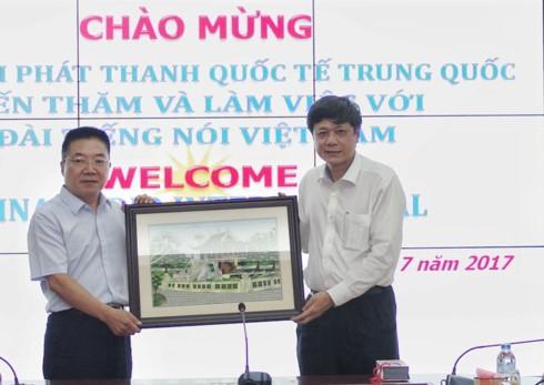 Đài Tiếng nói Việt Nam trao đổi hợp tác với Đài Phát thanh Quốc tế Trung Quốc - ảnh 2
