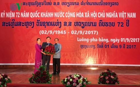 Đại sứ quán Việt Nam tại Campuchia và bắc Lào kỷ niệm 72 năm Quốc khánh - ảnh 4