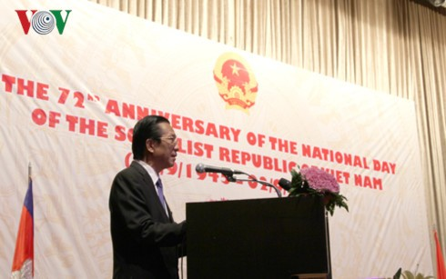 Đại sứ quán Việt Nam tại Campuchia và bắc Lào kỷ niệm 72 năm Quốc khánh - ảnh 1