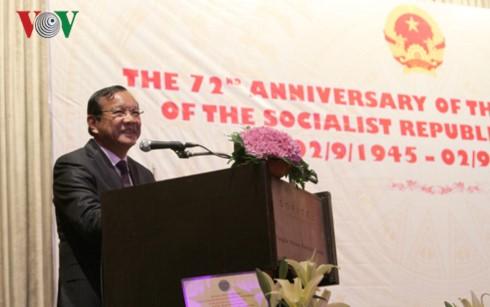 Đại sứ quán Việt Nam tại Campuchia và bắc Lào kỷ niệm 72 năm Quốc khánh - ảnh 2