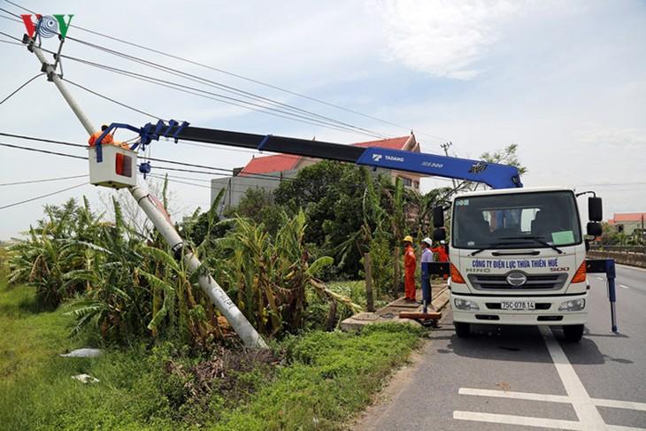 Hội Chữ thập đỏ Việt Nam cứu trợ khẩn cấp cho người dân bị thiệt hại do bão Doksuri   - ảnh 1