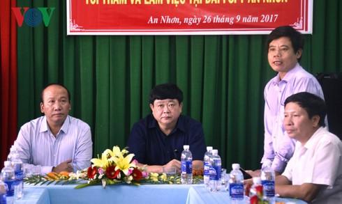 Tổng Giám đốc Đài TNVN Nguyễn Thế Kỷ làm việc tại Bình Định - ảnh 3