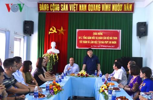 Tổng Giám đốc Đài TNVN Nguyễn Thế Kỷ làm việc tại Bình Định - ảnh 2
