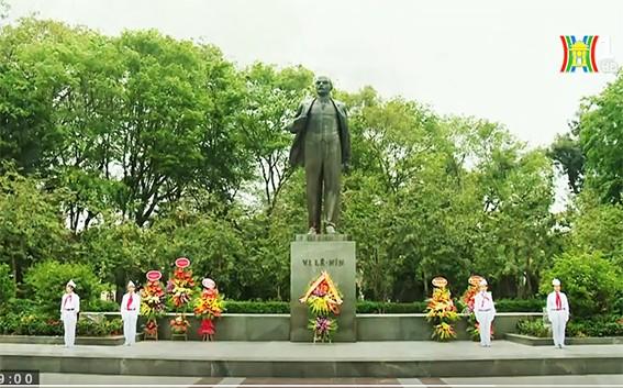 Dâng hoa kỷ niệm 148 năm Ngày sinh V.I.Lênin  - ảnh 1