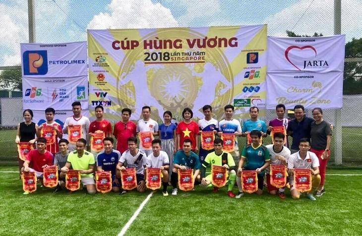 Giải bóng đá Cúp Hùng Vương được tổ chức sôi nổi tại Singapore - ảnh 1