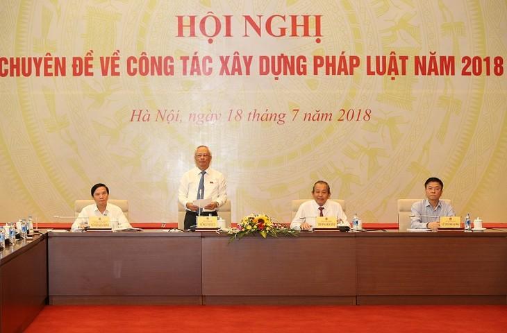 Hội nghị chuyên đề công tác xây dựng pháp luật năm 2018 - ảnh 1