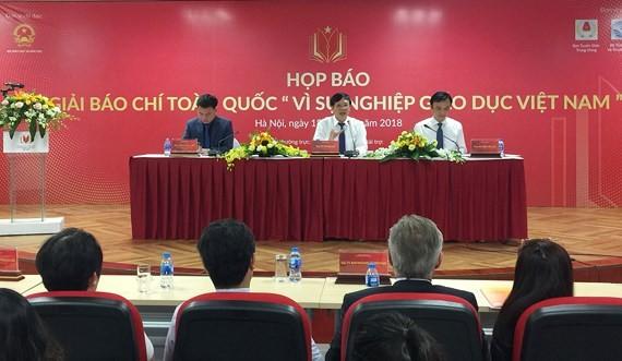 """Phát động Giải Báo chí toàn quốc """"Vì sự nghiệp Giáo dục Việt Nam"""" năm 2018 - ảnh 1"""