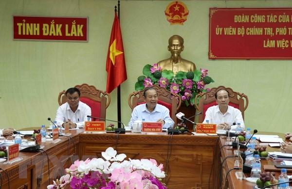 Phó thủ tướng Trương Hòa Bình làm việc tại Đak Lak - ảnh 1