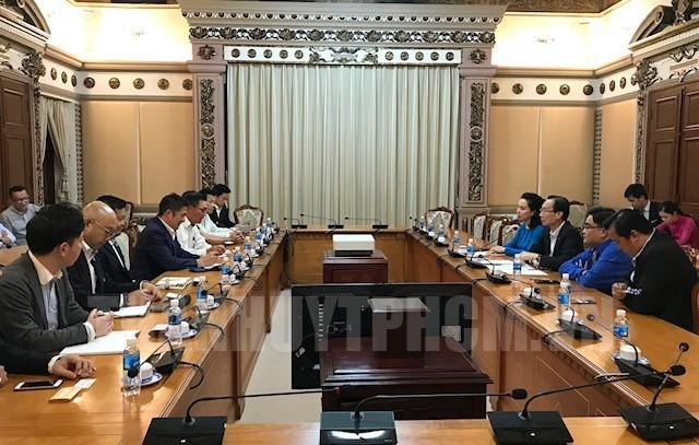 Lãnh đạo Thành phố Hồ Chí Minh tiếp đoàn đại biểu Phòng Thương mại và Công nghiệp Nhật Bản - ảnh 1