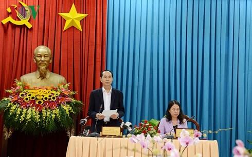 Chủ tịch nước Trần Đại Quang thăm, làm việc ở An Giang - ảnh 2