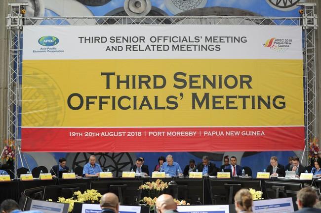 Hội nghị lần thứ ba các quan chức cao cấp APEC 2018 tiếp tục thúc đẩy hợp tác và liên kết kinh tế khu vực - ảnh 1