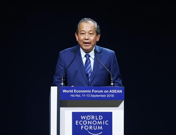 Việt Nam muốn cùng WEF thúc đẩy đối thoại và quan hệ đối tác rộng mở - ảnh 1