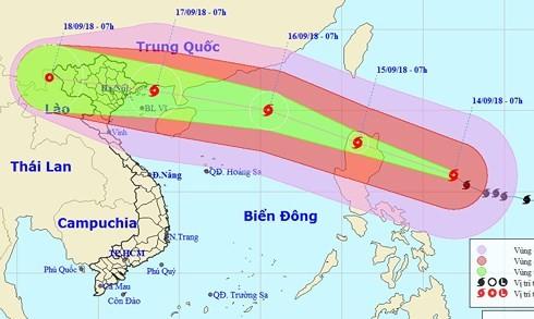 Dự báo hướng đi mới nhất của siêu bão Mangkhut, giật cấp 17 - ảnh 1
